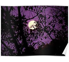 Morning Moon Poster