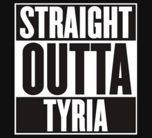 Straight Outta Tyria T Shirt One Piece - Long Sleeve