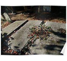 Autumn gravestones  Poster