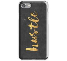 Hustle (gold) iPhone Case/Skin