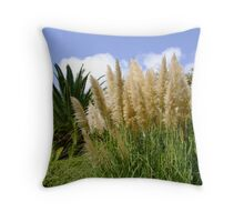 Beautiful flowers grow in Spain  Throw Pillow