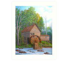 Loudermilk Gristmill in Habersham County Georgia Art Print