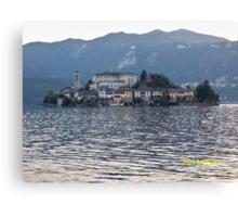 IL LAGO D'ORTA - ISOLA DI SAN  GIULIO - ITALY- EUROPA- 4500 visualizz.settembre 2013 -featured in italy 500+ & RB EXPLORE 14 NOVEMBRE 2011 --- Canvas Print