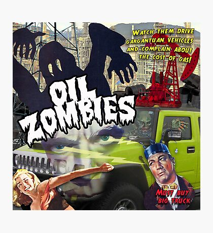 Oil Zombies Photographic Print
