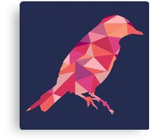 Geometric Bird - pink and orange Canvas Print