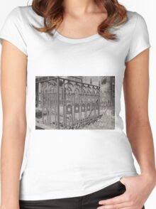 Rusted Fence Women's Fitted Scoop T-Shirt