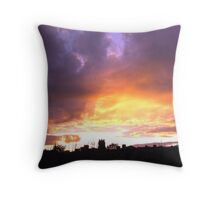 CHURCH AT SUNSET Throw Pillow