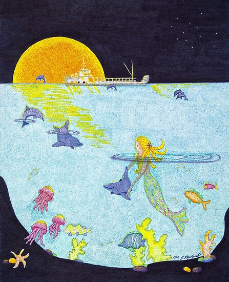 Moonlight Crossing II by Judy Newcomb