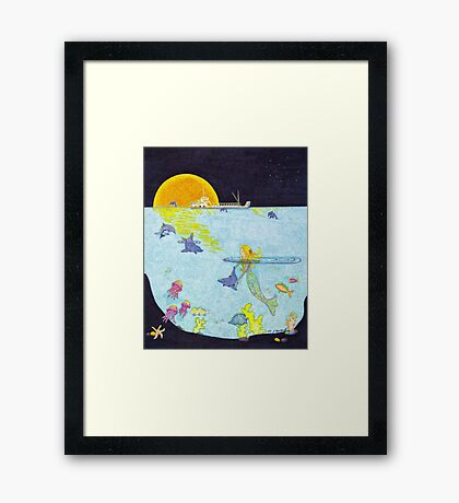 Moonlight Crossing II Framed Print