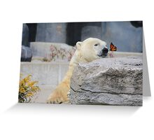 The bear and the butterfly Greeting Card