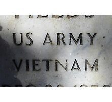 'Nam Memorial Photographic Print