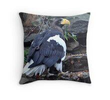 Majestic Eagle~ Stellers Sea Eagle Throw Pillow
