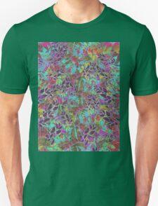 Grunge Art Floral Abstract Unisex T-Shirt