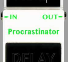 'The Procrastinator' Effects Pedal - T Shirt Sticker