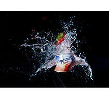Strawberry Yoghurt Photographic Print