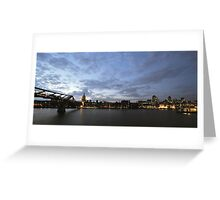 London, The City and St Paul's Cathedral Greeting Card