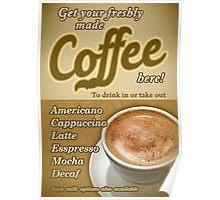 Retro Coffee Poster Poster