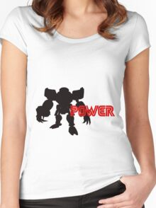 Power Type: E123 Omega Women's Fitted Scoop T-Shirt