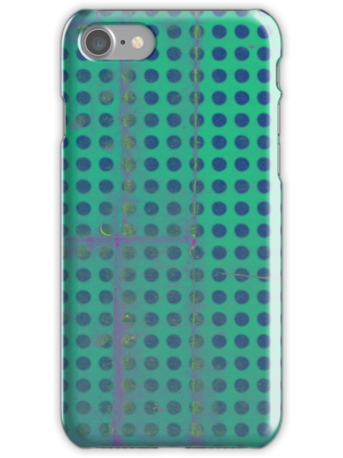 Green & Blue Polka dots iphone case  by rupydetequila