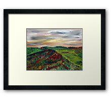 September Hills Framed Print