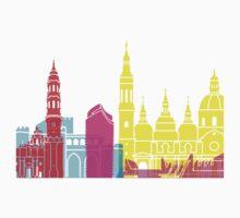 Zaragoza skyline pop Kids Clothes