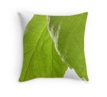 Hibiscus Leaves Throw Pillow