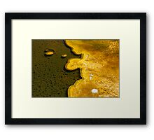 Yellowstone Geothermal feature 1 Framed Print