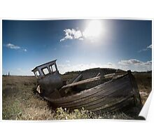 Abandoned Boat - Thornham Poster