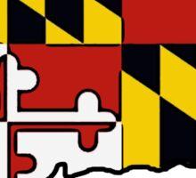 Connecticut outline Maryland flag Sticker