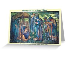 Edward Burne-Jones' The Star of Bethlehem Greeting Card
