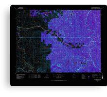 USGS Topo Map Washington State WA Skykomish River 243753 1975 100000 Inverted Canvas Print