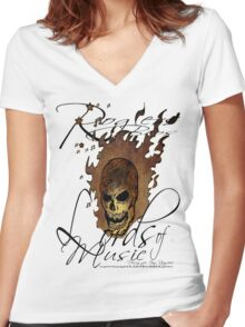 lords of music by rogers bros Women's Fitted V-Neck T-Shirt