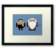 Harry Pottroid and Dumbledroid print Framed Print