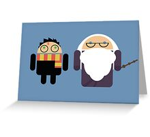 Harry Pottroid and Dumbledroid print Greeting Card