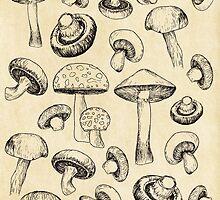 mushrooms by mxlly
