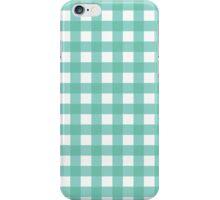 Pale Blue Gingham iPhone Case/Skin