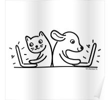 Cat & Dog Internet Users Poster