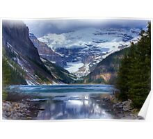 Lake Louise in Oil Poster