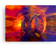 Sunset Behind the Mirrors Metal Print