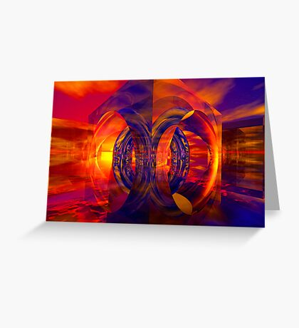 Sunset Behind the Mirrors Greeting Card