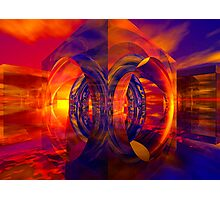 Sunset Behind the Mirrors Photographic Print