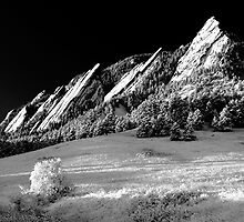 Flatirons In Infrared by Gregory J Summers