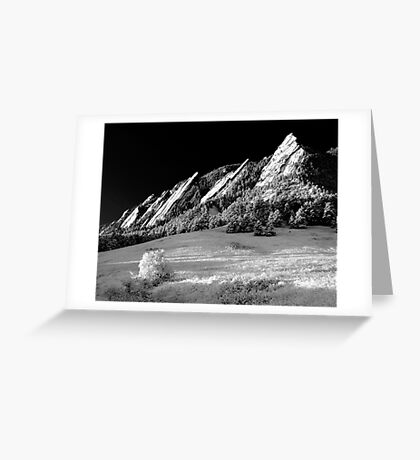 Flatirons In Infrared Greeting Card