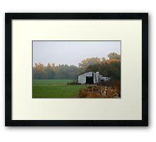 Lonely Barn Framed Print