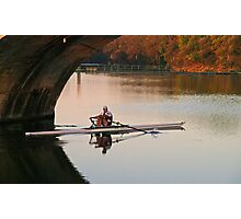 Morning Row - Muese River, France Photographic Print