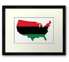 African American _ Red, Black & Green Colors Framed Print