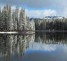 Serene Lake Panorama looking towards Castle Peak by David Galson