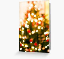 Christmas Tree Bokeh I Greeting Card