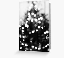 Christmas Bokeh III Greeting Card