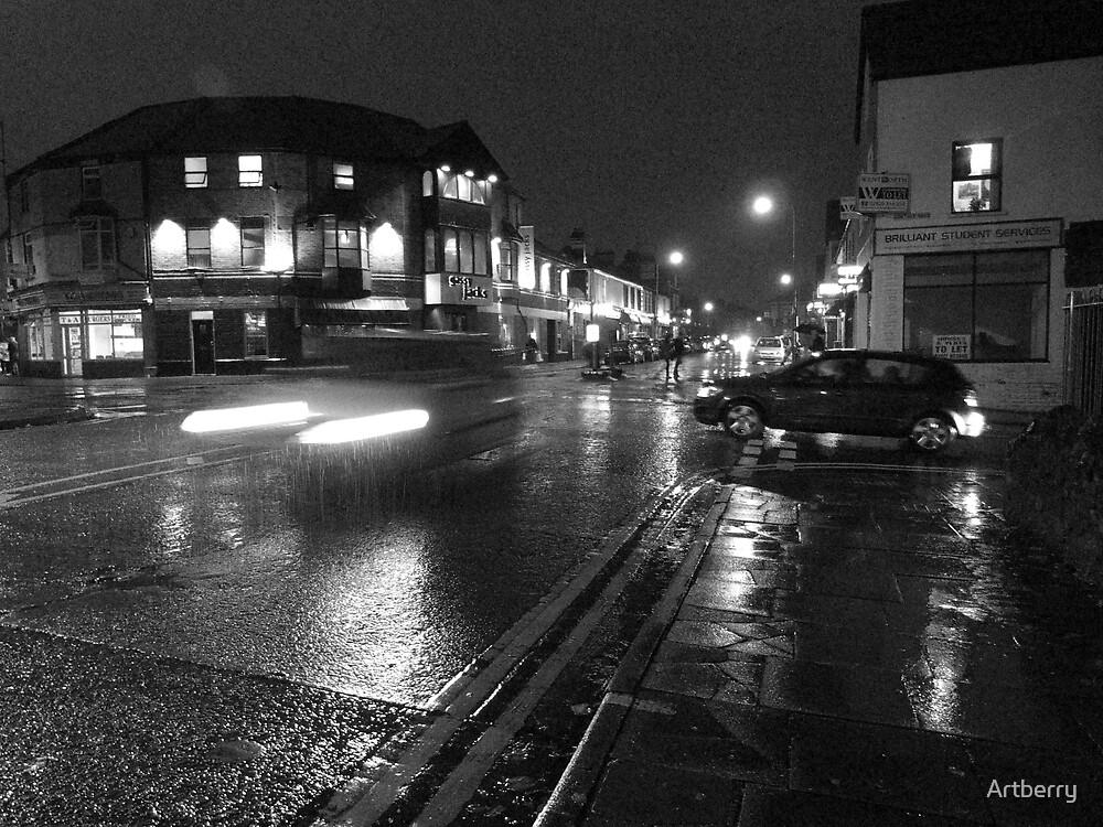 Wet Evening, Salisbury Road Cardiff (3) by Artberry
